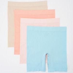 4 Breezies Seamless Long Leg Panties SM NEW P81